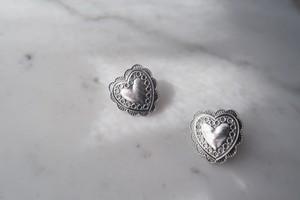 concho heart pierce・earring