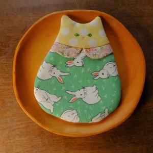 猫さんコースター(襟付き)