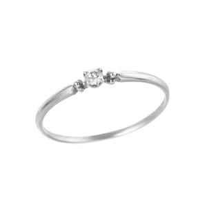 K18WGダイヤモンドリング 010209003892