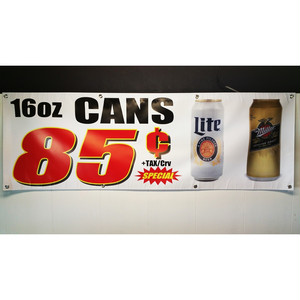 85¢ CANS (リカーSHOPバナー)