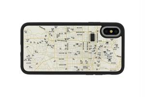 FLASH 京都回路地図 iPhoneXケース 白【東京回路線図ピンズをプレゼント】
