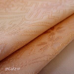 正絹 ピーチソルベ色のぼかしの帯揚げ