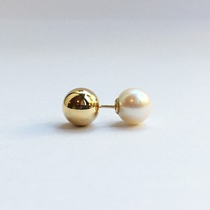 K18 8mm Gold Ball Piece with Akoya Catch