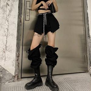 【ボトムス】ファッション無地ハイウエストレギュラー丈カジュアルパンツ32214424