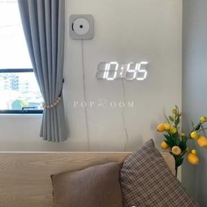 ホワイトウォールラージLED時計 R1494