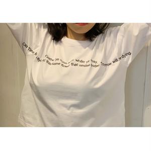 BADバッド・ポエム刺繍T-シャツ (0W12017E)
