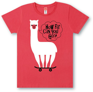 #468 Tシャツ HOW FAR/RED