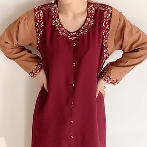 vintage slit afghan dress