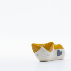ネコオキ|ちゃめねこ(みけハート)1匹【現品販売・予約受付中】