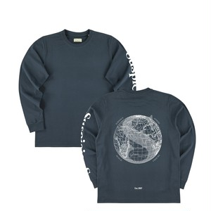 サスピシャスアントワープ The Voyager Longsleeve - Navy // White (Type II)