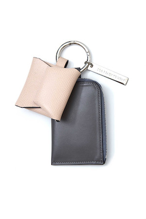 Coin & Card Holder -GRAY×PINK- soe