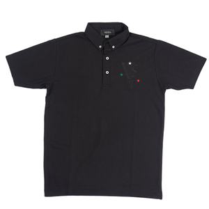 VST V neck Logo ItalianColor Poloshirt Black
