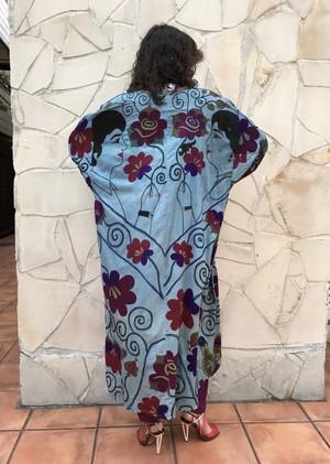 Vintage Uzbekistan couple embroidery cotton haori ( ヴィンテージ ウズベキスタン カップル 刺繍 コットン 羽織り )