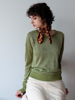 sparkle high-gauge knit(green)