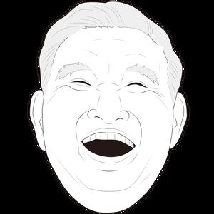 笑顔のシニア男性