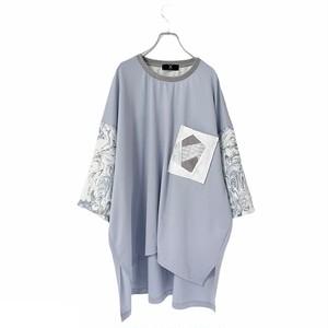 Slit-T-shirts1.2 Pocket (light blue)
