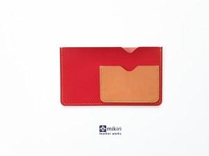 はじめての通帳&キャッシュカードケース レッド