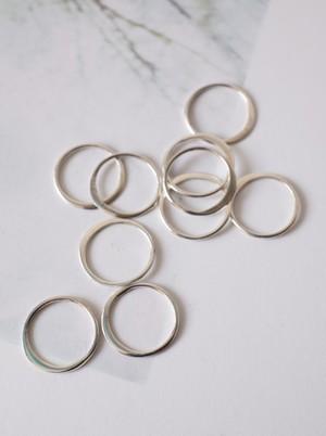 Circle Link Parts 10mm / Silver - 015