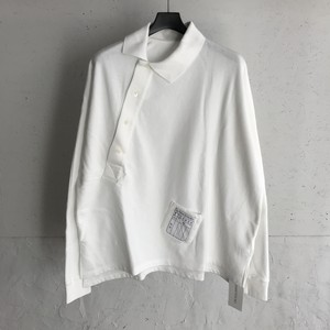 SOSHIOTSUKI 20ss KIMONO BREASTED POLO WHITE ソウシオオツキ キモノ ブレステッド ポロ S20SSCS02LS