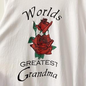 Worlds GREATEST Grandma プリントTシャツ ホワイト size XL メンズ 古着