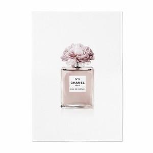 perfume illustration fabric poster D 3size / シャネル ブランド イラスト ファブリックポスター 韓国