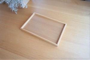 木製/角型トレイ(小)/白木