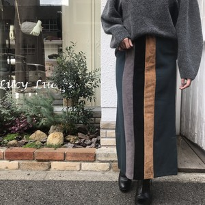 ANNAKERRY/配色ミディ丈タイトスカート