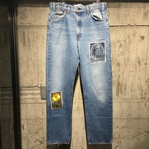 【children of the discordance】VINTAGE EMBROIDERY DENIM PANTS C