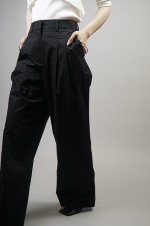 WAIST TUCK WIDE PANTS (BLACK) 2106-55-13