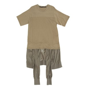 617CUM34-KHAKI / レイヤードジャケットパーツT-シャツ