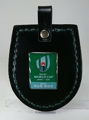 ピンバッチ取付け用ホルダー(艶黒×緑)