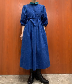 Knight's Ltd. MADE IN USA corduroy puff sleeve maxi one-piece【10】