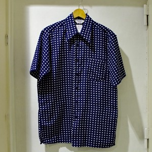 1970s  Richman Brothers Polyester S/S Shit / 70年代 ポルカ ドット シャツ