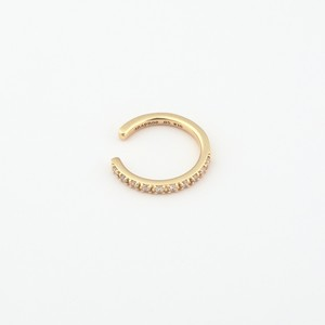 Straight diamond earcuff