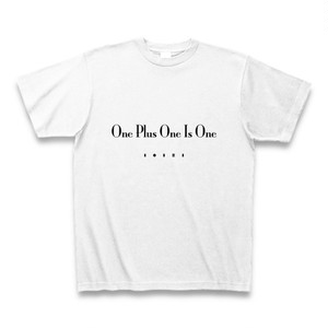 One Plus One Is One(1+1=1)TシャツA(ポジ)