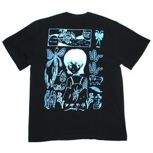 『ナカノマサト』グラデーション プリントT/(black)