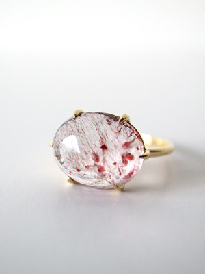 【 sold out 】Quartz Ring・Geothite, Lepidocrocite / AL-R10