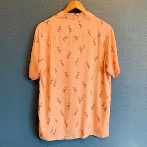 フラミンゴドットのアロハシャツ