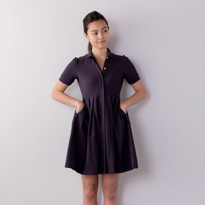 Classical Shirts Dress / NAVY