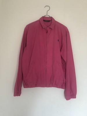 ピンクジップアップジャケット