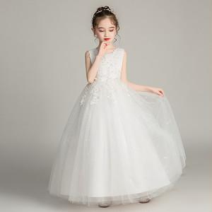 8387キッズドレス 子供ドレス ジュニア プリンセス 女の子ドレス フォーマル ロングワンピース マキシ丈 ノースリープ110-170cm