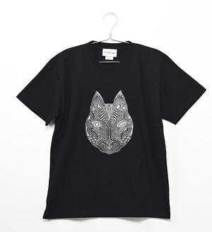 【限定カラー】◆Apsu Shuseiコラボ◆「世界一怪談を聞いている猫」Tシャツ BLACK×SILVER
