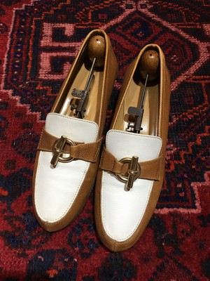 .HERMES Chaine d'ancre LEATHER LOAFER/エルメスシェーヌダンクルレザーローファー 2000000038865