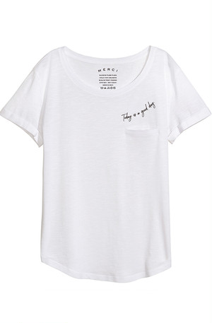 Whisper Pocket Tee - White
