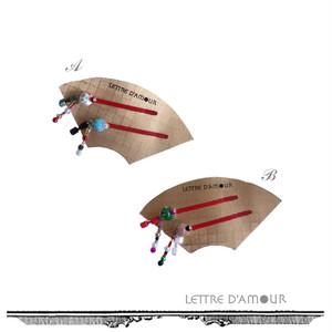 舞妓ヘアピン2本セット[LD/H-A3-]