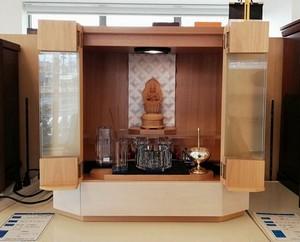 モダン仏壇 サクラ薄板貼り 15号 ガラス戸 桜色 国産