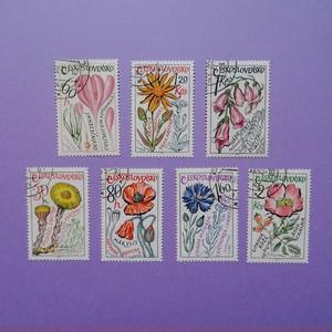 チェコスロヴァキア時代のお花の切手セット