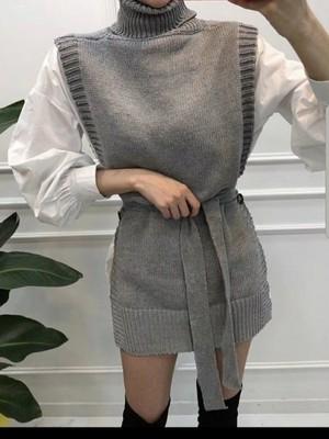 予約注文商品 シャツニットベストセット シャツ ニットベスト 韓国ファッション