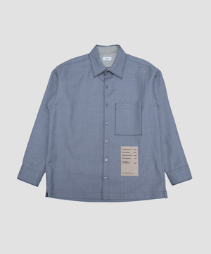 Allege Wool Stitch Shirt Gray AH19W-SH03