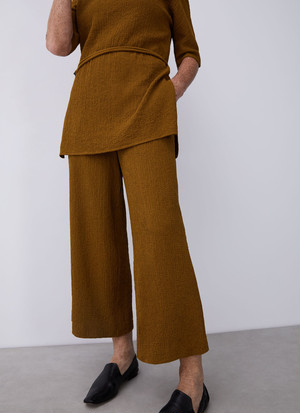 ELASTIC TROUSERS WITH STRAIGHT LEG